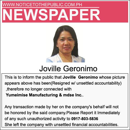 joville Geronimo